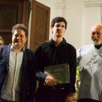 Sorrento 19 luglio 2020, Villa Fondi - Concerto talenti della Scuola di Violoncello del M° Ilie Ionescu, fra il Direttore Artistico M° Paolo Scibilia e il M° Ilie Ionescu.