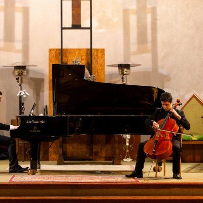 14/12/2019, Salerno - in duo con Gabriele Milone nei Pomeriggi Musicali Giovanili da Santarpino Pianoforti e Yamaha, Chiesa di San Benedetto